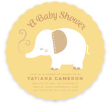 Elefante Baby Shower Invitations