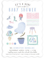 Baby Girl Moodboard Baby Shower Invitations
