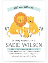 Little Cub Baby Shower Invitations