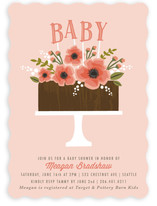 Chocolate Baby Cake Baby Shower Invitations