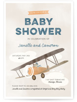 Pilot Baby Baby Shower Invitations