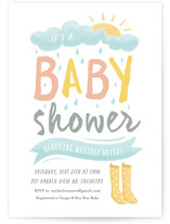 Wellies Baby Shower Invitations