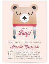 Baby Bear Bonnet Baby Shower Invitations