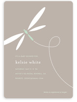 Swooping Dragonfly Baby Shower Invitations