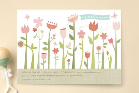 Butterfly Garden Baby Shower Invitations