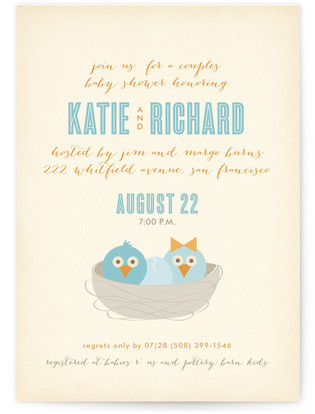 Welcome to the Nest Baby Shower Invitations