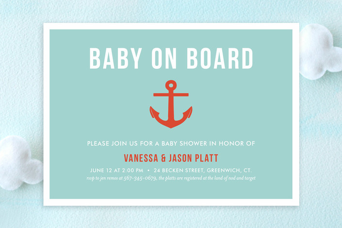 baby on board baby shower invitations by ashley he minted