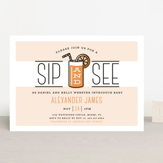 Sip and See Baby Shower Invitations