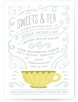 Teacup Baby Shower Invitations