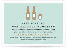 Home Brew Baby Shower Invitations