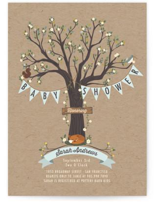 Woodland Baby Baby Shower Invitations