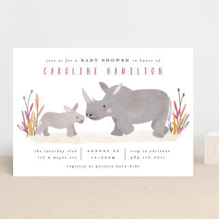 Sweet Rhinoceroses Baby Shower Invitations