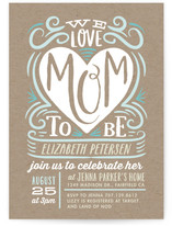 We Heart Mom To Be Baby Shower Invitations