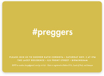 Hashtag Preggers Baby Shower Invitations