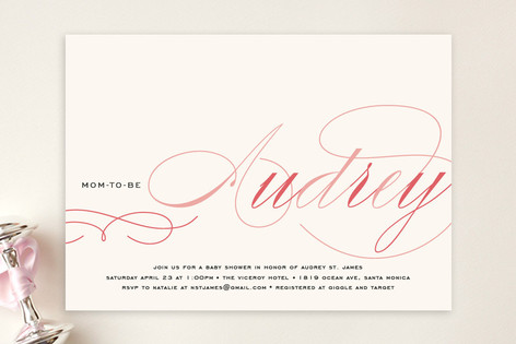 Blushing Mom to Be Baby Shower Invitations