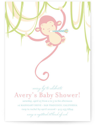 Monkey Around Baby Shower Invitations