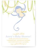 Monkey Around Baby Shower Invitations