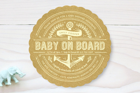 Chesapeake Bay Baby Shower Invitations