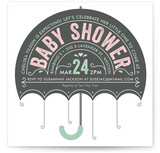 Ombrello Baby Shower Invitations