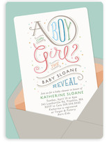 Postmarked Baby Shower Invitations