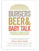 Big Burger Baby Shower Invitations