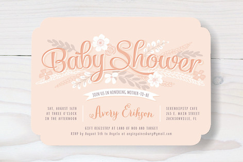 Sweet Garden Shower Baby Shower Invitations