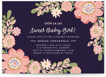 Sweet Baby Girl Baby Shower Invitations