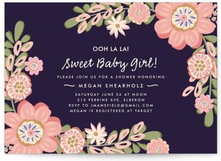 Sweet Baby Girl Baby Shower Invitations