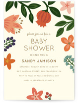 Baby Blooms Baby Shower Invitations