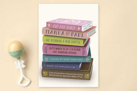 Bookworm Baby Shower Invitations