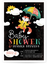 Up and Away Baby Shower Invitations