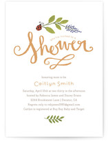 In the Garden Baby Shower Invitations