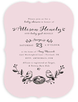 Birds of a Feather Baby Shower Invitations