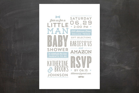 Little Man Baby Shower Invitations