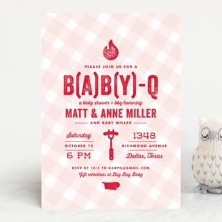 B(A)B(Y)Q Baby Shower Invitations