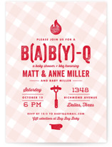 B(A)B(Y)Q Baby Shower Invitations