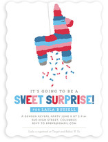 Pinata Gender Reveal Baby Shower Invitations