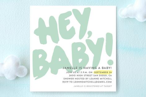Hey Baby! Baby Shower Invitations