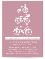 Baby Bicycle Baby Shower Invitations
