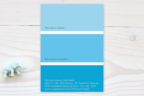 Paint Chip Baby Shower Invitations