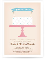 Gender Reveal Cake Baby Shower Invitations