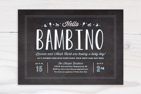 Hello Bambino Baby Shower Invitations