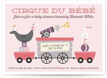 Cirque du Bebe Baby Shower Invitations