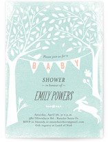 Pastoral Banner Baby Shower Invitations
