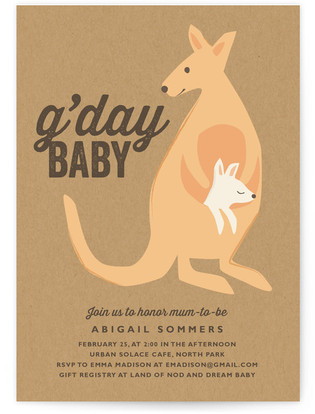 G'Day Baby Baby Shower Invitations