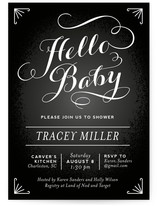 Chalkboard Greetings Baby Shower Invitations