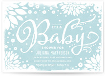 Floral Canvas Baby Shower Invitations