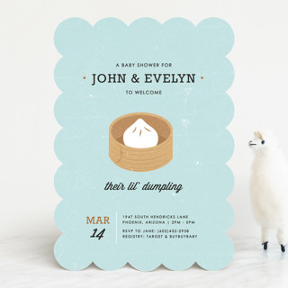 Lil' Dumpling Baby Shower Invitations