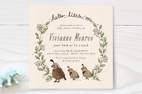 Covey Baby Shower Invitations