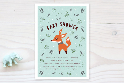 little fox baby shower invitations by olivia raufm minted